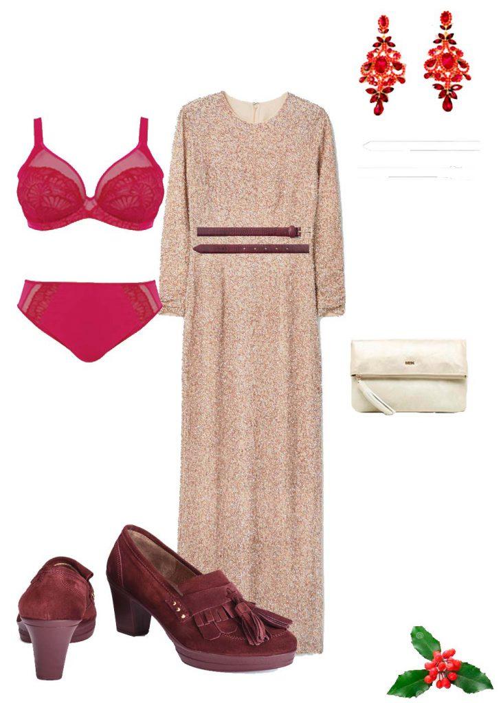 Look con vestido largo para fiestas
